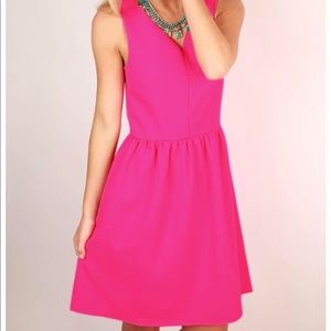 Everly hot pink dress